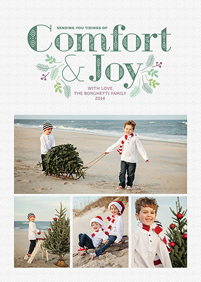 holiday photo cards - Sending Tidings by Annette Allen