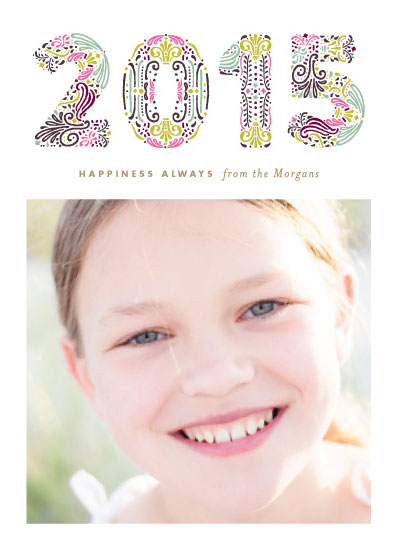 holiday photo cards - Engraved Year by Phrosne Ras