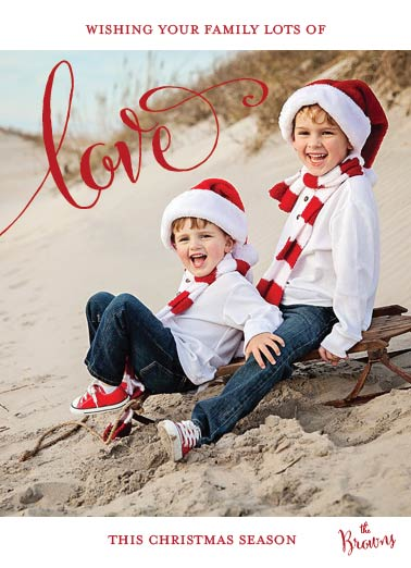 holiday photo cards - Christmas Sleigh Love by Kelly Bains
