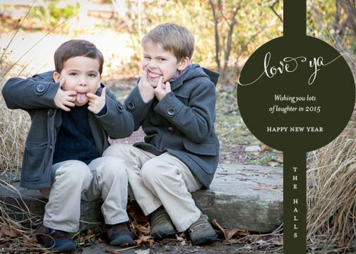 holiday photo cards - Silly Love Ya by Kelly Bains