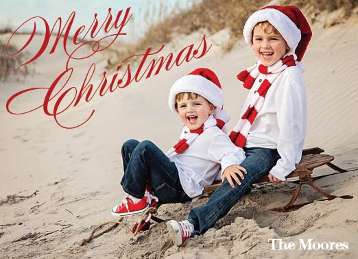 holiday photo cards - A very merry classic christmas by Kelly Bains