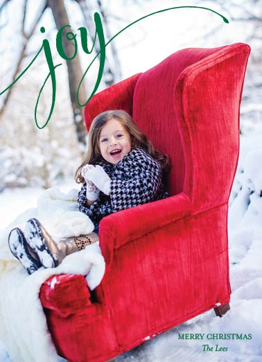 holiday photo cards - Santa's Chair by Kelly Bains