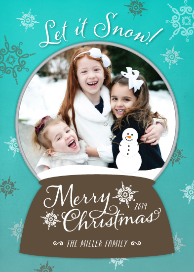 holiday photo cards - Snow Globe Fun by Little Bees Graphics