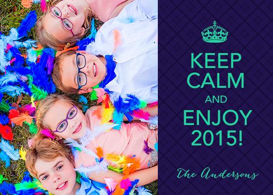 holiday photo cards - Keep Calm & Enjoy 2015 by Rachel Mense
