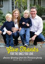 Give Thanks Photo Card by Erynn Mozier
