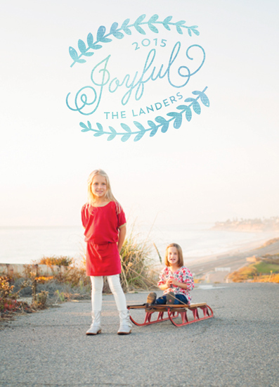 holiday photo cards - Joyful leaves by Chasity Smith