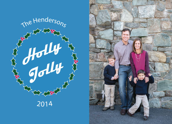 holiday photo cards - Jolly Hollyday by Lofty Impressions