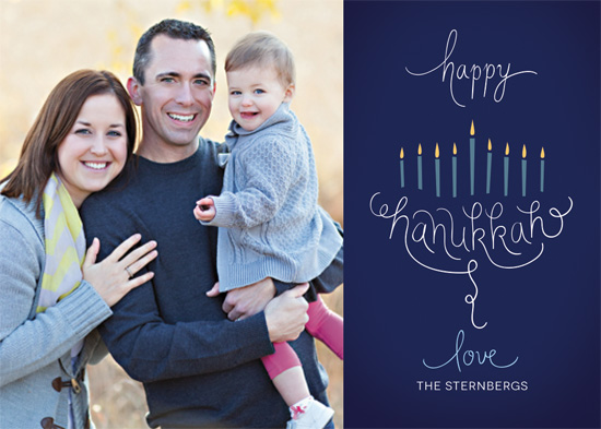 holiday photo cards - Scripted Menorah by An-Lon Chen