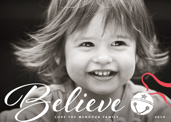 holiday photo cards - Believe in the Season by Hooray Creative