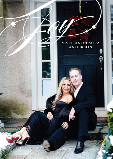 holiday photo cards - Classic Calligraphy by Gray Star Design
