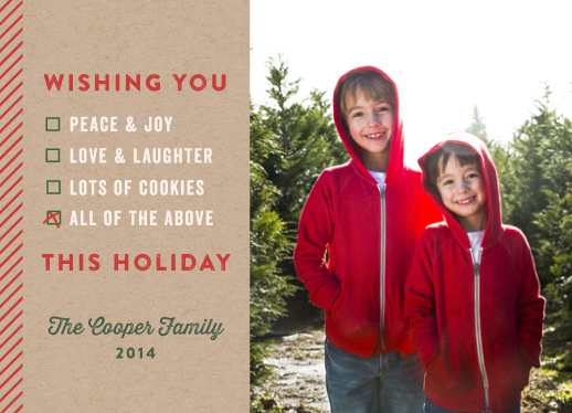 holiday photo cards - Wish list by Annie Holmquist