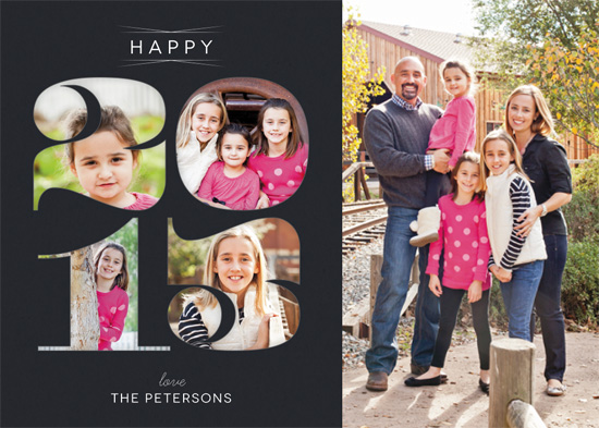 holiday photo cards - Numeral Vignettes by An-Lon Chen