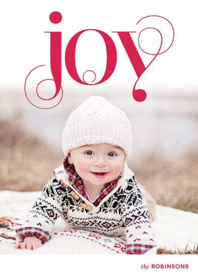 holiday photo cards - Embellished Joy by Leslie Ann Jones