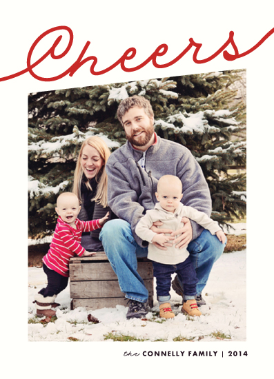 holiday photo cards - last minute cheer by Rebecca Bowen