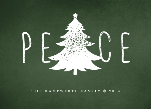 non-photo holiday cards - Tree of Peace by Kevin Kampwerth