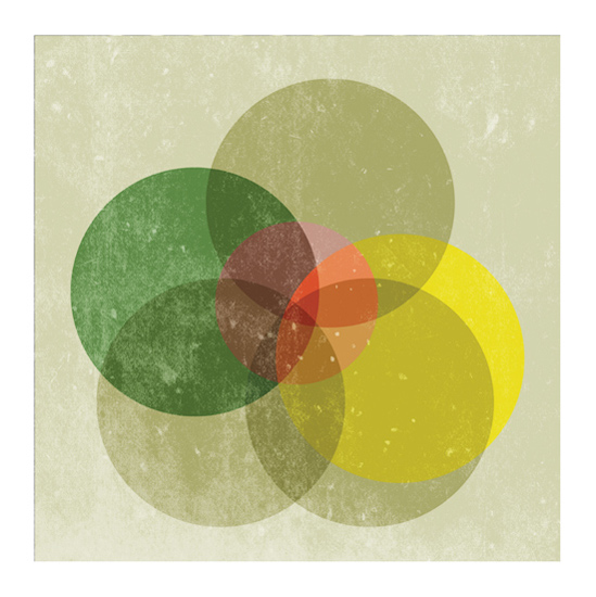 art prints - Coloured Intersection by Lucrecia