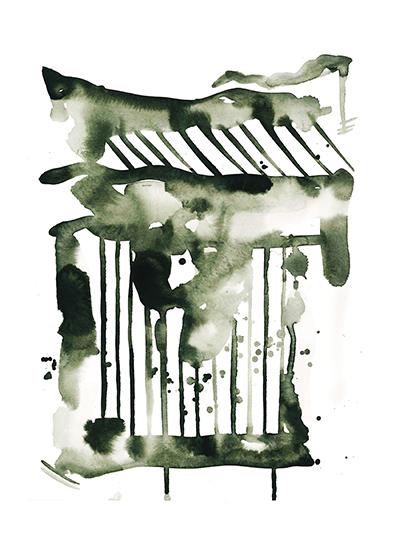 art prints - Falling Strokes by Kelsey McNatt