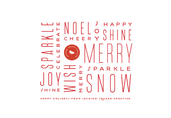 business holiday cards - Holiday Buzzwords by Cheer Up Press