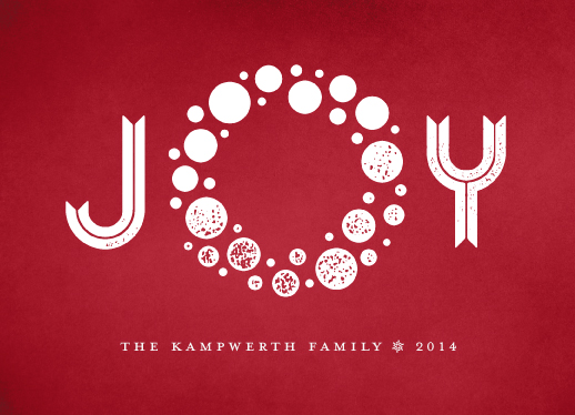 non-photo holiday cards - Ornaments of Joy by Kevin Kampwerth