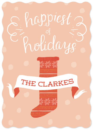 non-photo holiday cards - Happiest by Emma Trithart
