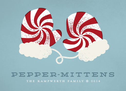 non-photo holiday cards - Pepper-Mittens by Kevin Kampwerth