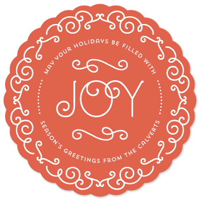 non-photo holiday cards - Joy Flourished by Laura Hankins