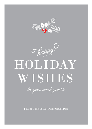 business holiday cards - Happy Holiday Wishes by Kimberly FitzSimons
