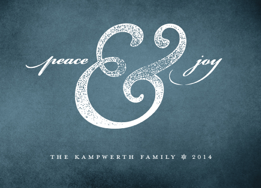 non-photo holiday cards - Peace & Joy by Kevin Kampwerth