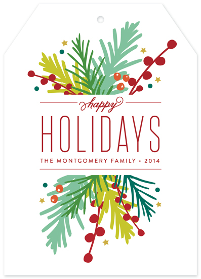 non-photo holiday cards - Holiday Bouquet by Jessica Williams