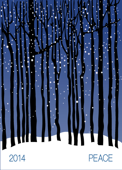 non-photo holiday cards - Peaceful Winter's Dream by Sabrina Hoeke