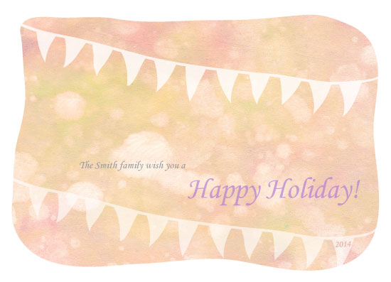 non-photo holiday cards - Warm greetings by Siutaam