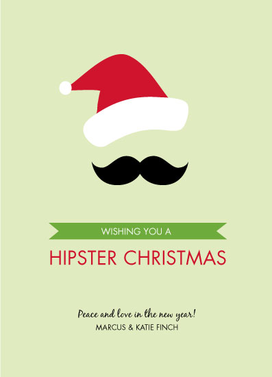 non-photo holiday cards - Hipster Xmas by Paper Heart Design Studio