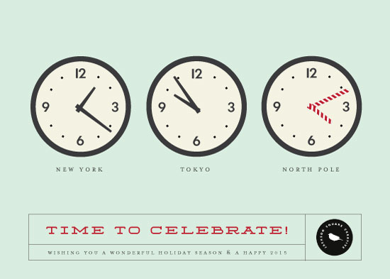 business holiday cards - Time Zones by Stacey Hill