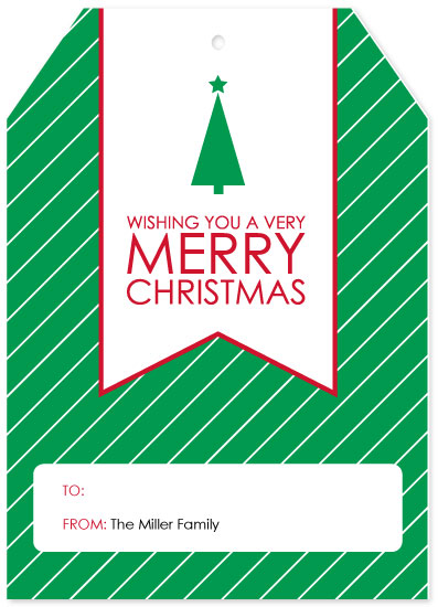 non-photo holiday cards - Christmas Tag by Paper Heart Design Studio