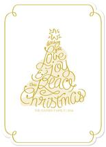 Love Joy Peace Tree by La Rue Pulido