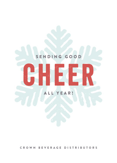 business holiday cards - snow cheer by Olivia Raufman