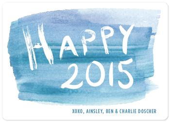 Watercolor Brush Letter Happy 2015