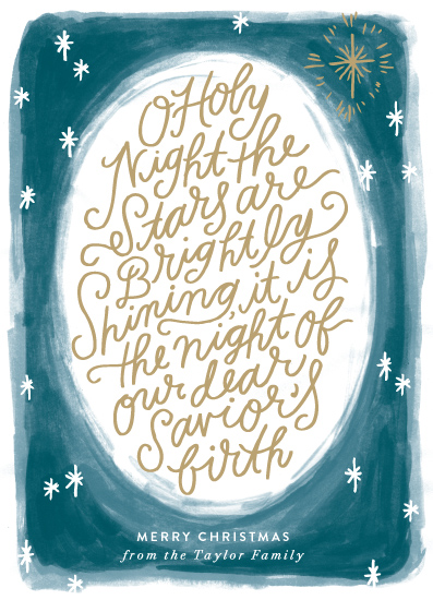 non-photo holiday cards - Oh Holy Night Sky by Alethea and Ruth