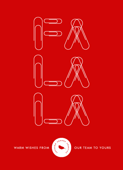 business holiday cards - Fa La La Paper Clips by Becky Nimoy