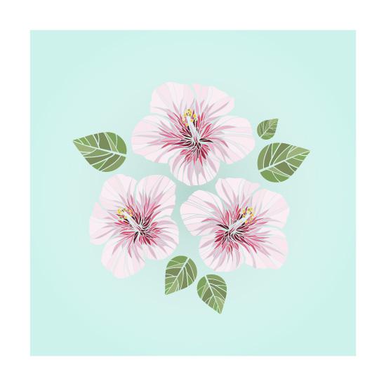 art prints - Pink Hibiscus by La Rue Pulido