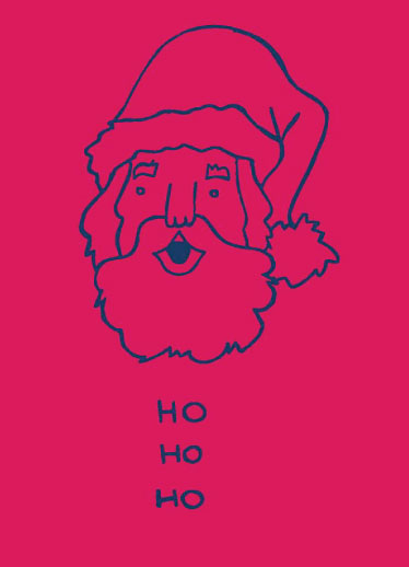 non-photo holiday cards - Ho Ho Ho by Clare Forrest