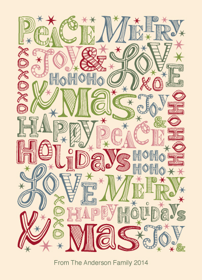 non-photo holiday cards - Words of Love by Maike Thoma