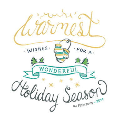 non-photo holiday cards - Warmest & Wonderful Season by Lisa M