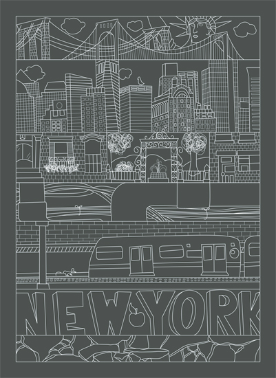 art prints - City Dissection - New York by We Say Things
