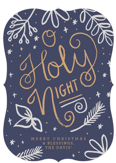 non-photo holiday cards - Starry Night Blessings by Isabel Davis