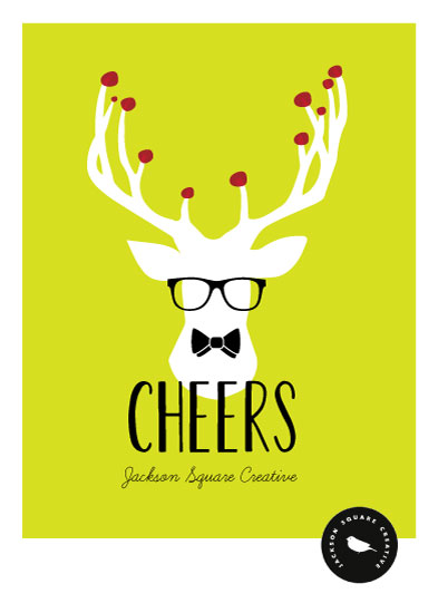 business holiday cards - Office Deer by Leila Rookstool