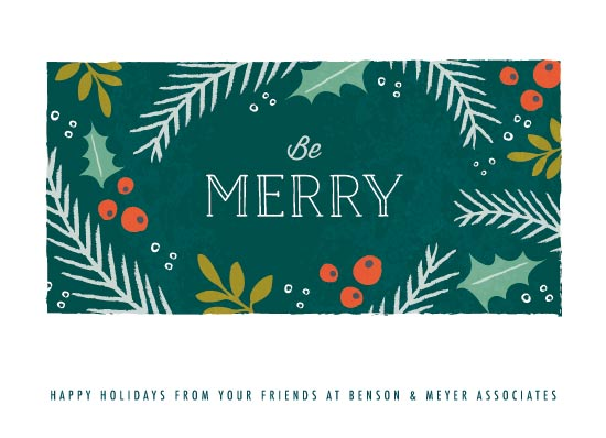business holiday cards - Merry Holiday Florals by Karidy Walker