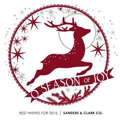 Starry Red Reindeer Silhouette