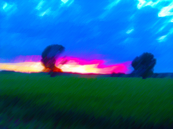 art prints - Melted Crayon Sunset by Jeff Preuss