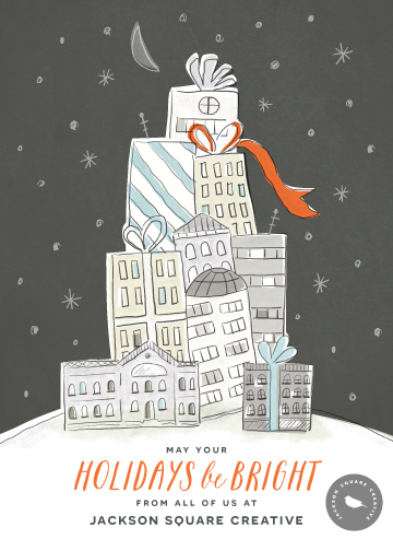 business holiday cards - Holiday Highrise by Griffinbell Paper Co.